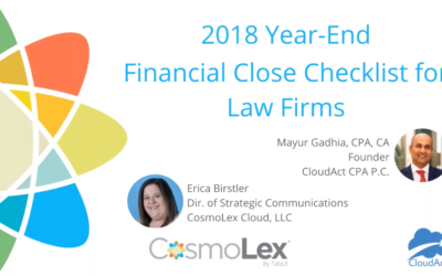 2018 Year-End Financial Close Checklist for Law Firms