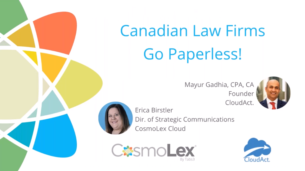 Canadian Law Firms  Go Paperless!