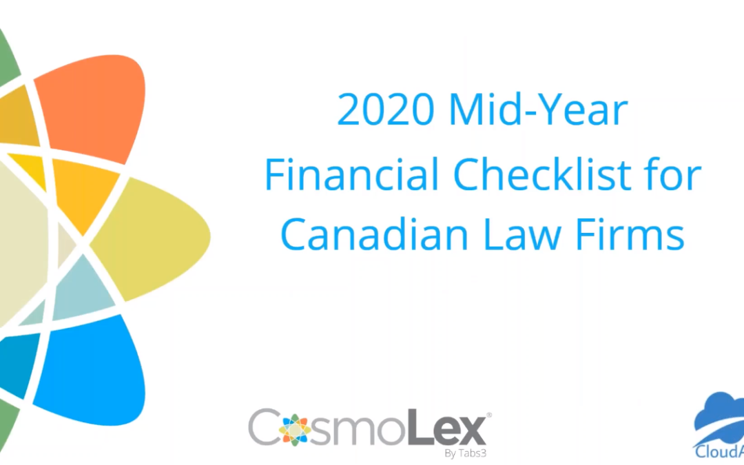 Mid-Year Financial Checklist for Canadian Law Firms